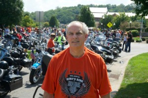 Anthony Castelli at Hero's motorcycle ride