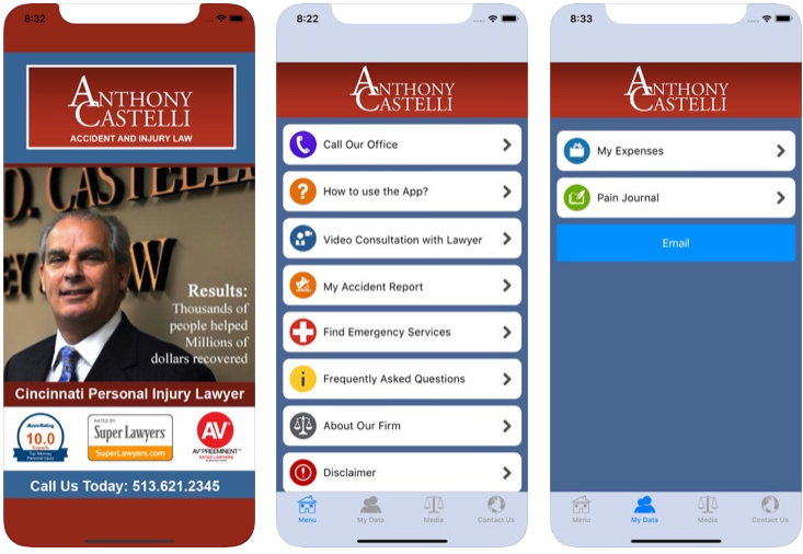 Auto accident app for iPhone by Cincinnati injury attorney