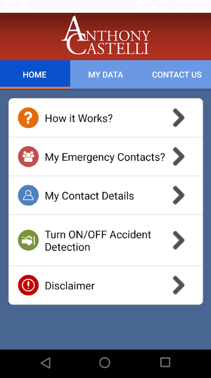 Android app for auto accidents in Ohio