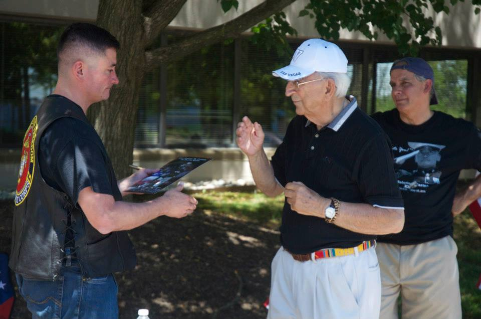 Timothy Chambers Honors Local Veteran Joseph Castelli